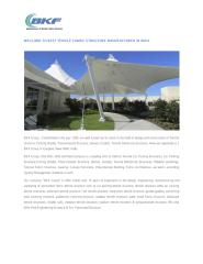 WELCOME TO BEST TENSILE FABRIC STRUCTURE MANUFACTURER IN INDIA.pdf