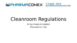 Castiglioni_Cleanroom Regulations_2.ppt