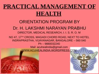 PRACTICAL MANAGEMENT OF HEALTH.ppt