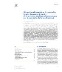 Diagnostic échographique des anomalies fœtales du premier trimestre de la grossesse (dépistage chromosomique par mesure de la clarté nucale exclue).pdf