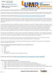 An Extensive Report On Automotive Evp (Electric Vacuum Pump) Market 2018 Global Analysis.pdf