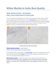 White Marble in India Best Quality.pdf
