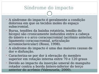 Síndrome do impacto.ppt