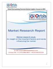 Global Electroplating Chemicals Market Insights, Forecast to 2025.pdf