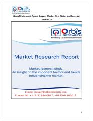 Global Endoscopic Spinal Surgery Market Size, Status and Forecast 2018-2025.pdf