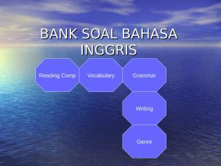 BANK SOAL BAHASA INGGRIS.ppt