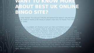 Want to know more about best UK online bingo Site.pptx