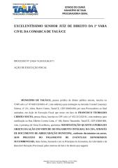 MANIFESTAÇÃO Extinção da Execução Fiscal por pagamento integral da dívida Francisco Teobaldo Cidrão Souto 25062018.doc